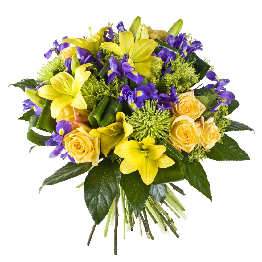 bouquet giallo e blu