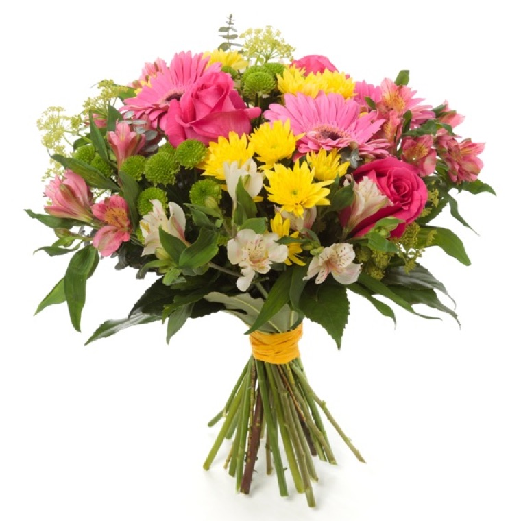 Pink Roses Gerberas Send And Deliver Bouquets To Italy