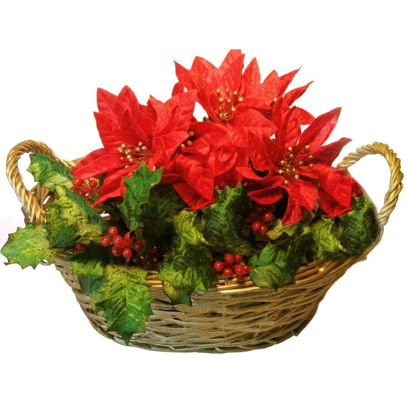 Christmas Centerpiece With Poinsettia Deliver Flowers Arrangement To Home