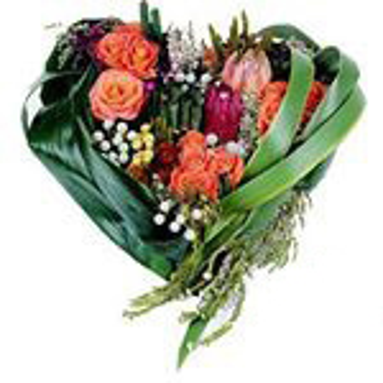 Cuore di fiori misti