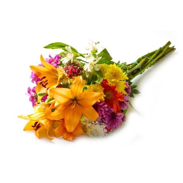 gigli arancioni e fiori misti