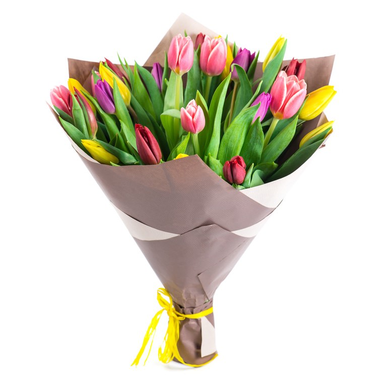 Mazzo Di Fiori The West.Tulips Sending And Delivery Tulips At Home To Italy