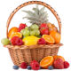Basket with 2,5kg of seasonal fruits